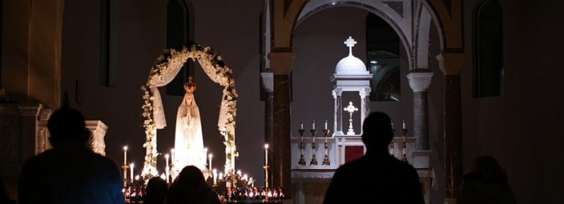 An all-night vigil at Our Lady of Sorrows in Phoenix - Feb, 2017